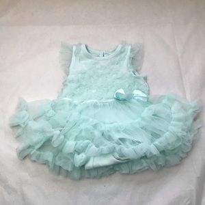 💥4/$20 GEORGE frilly dress built in diaper cover